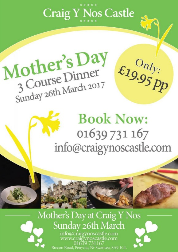 Mothering Sunday at Craig Y Nos Castle